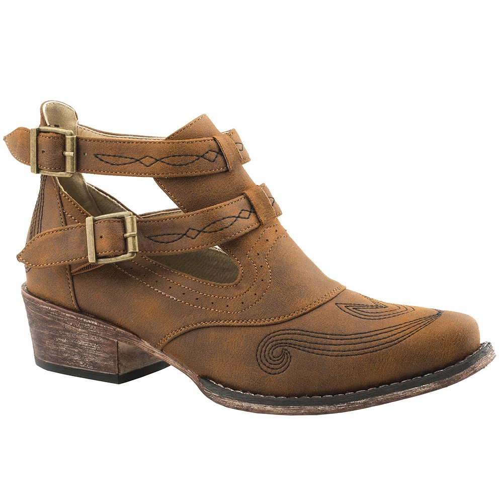 Womens Roper Cognac Willa Fashion Bootie