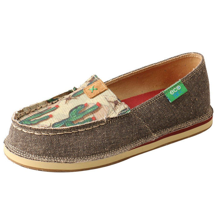 Kids Twisted X Slip On Cactus Print Loafer