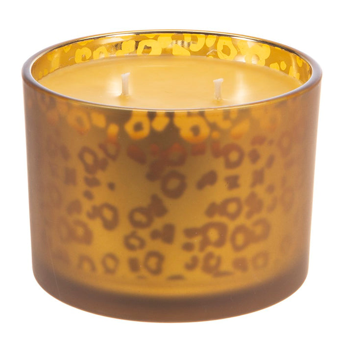 Tyler Candle Co Icon Muted Gold Leopard Candle