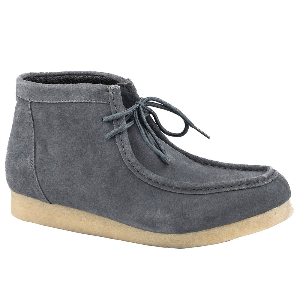 Men's Roper Grey Suede Gum Sole Chukka Lace Up Casual Shoe