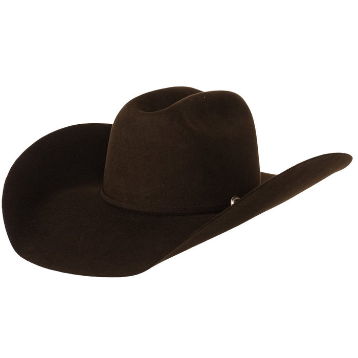 "Rodeo King 7X Chocolate 5"" Brim Open Crown Self Band Felt Hat"
