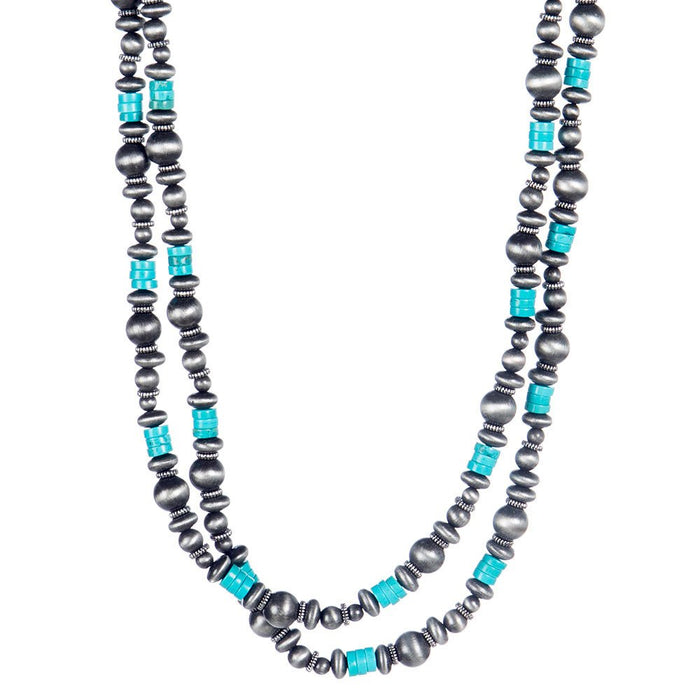 J West and Company Faux Navajo Pearl Beaded Necklace