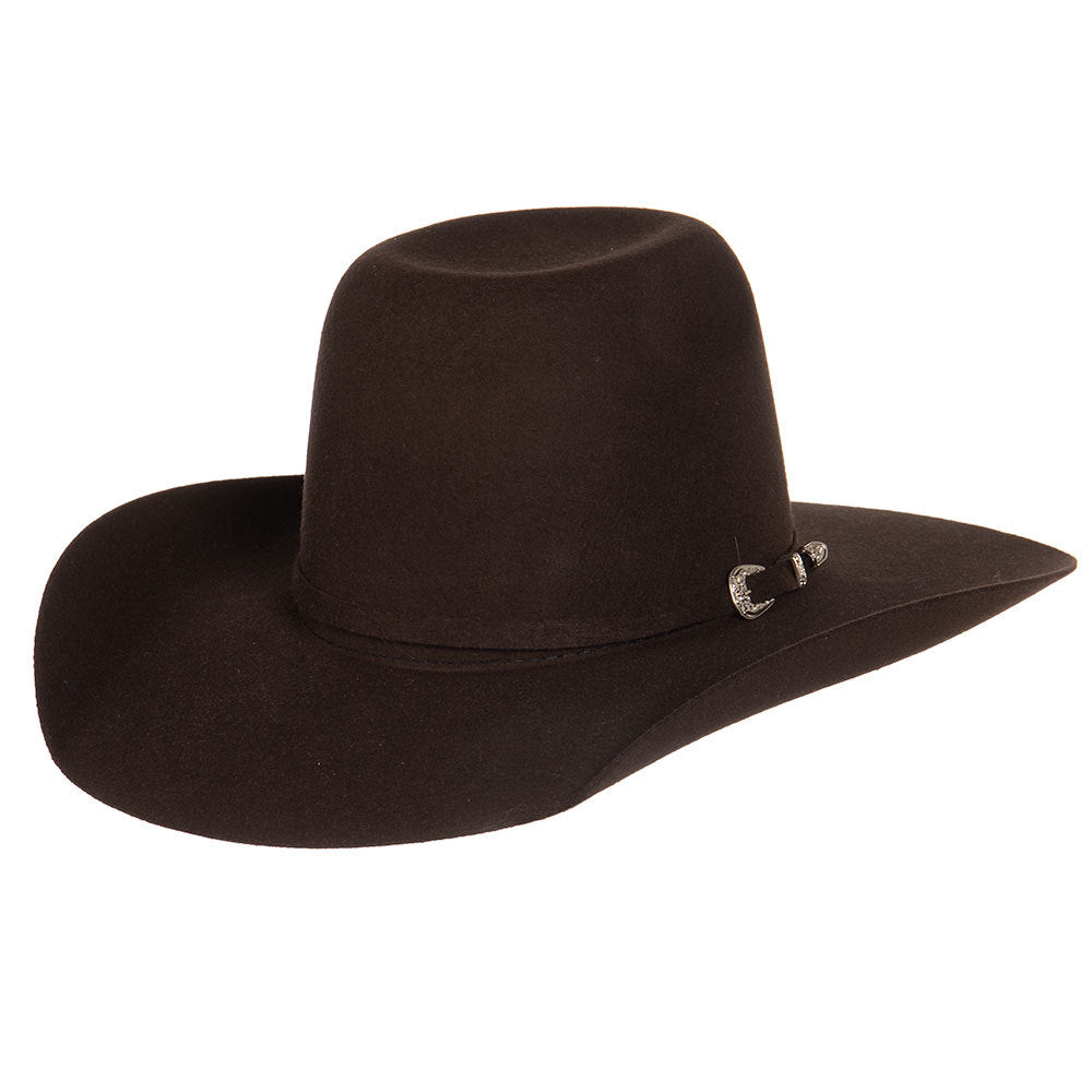 Youth Resistol Chocolate Pay Window Jr Felt Cowboy Hat