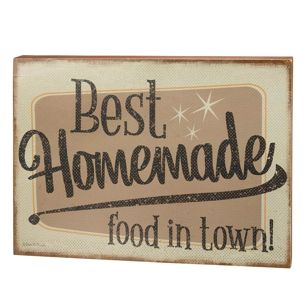 Primitives By Kathy Best Homemade Food In Town Box Sign