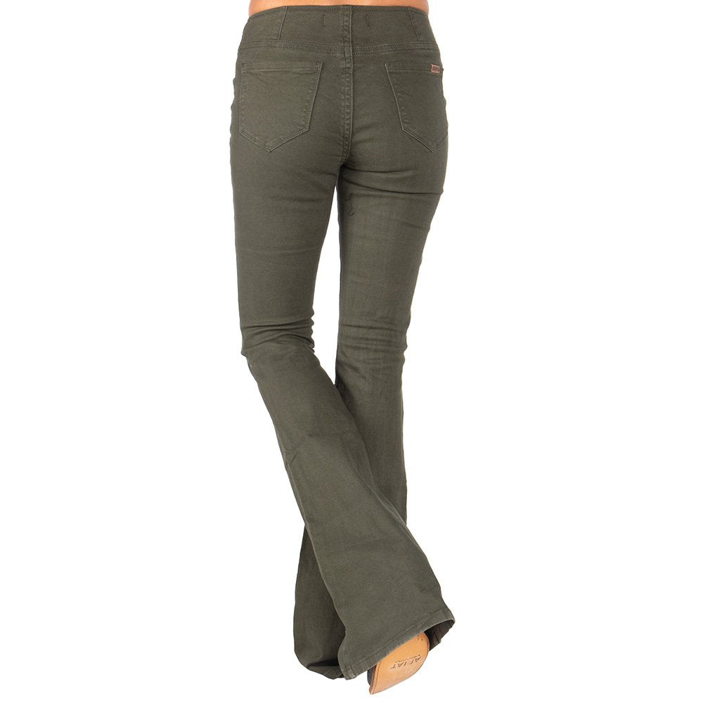 Rock & Roll Cowgirl Olive Pull-On Bell Bottoms