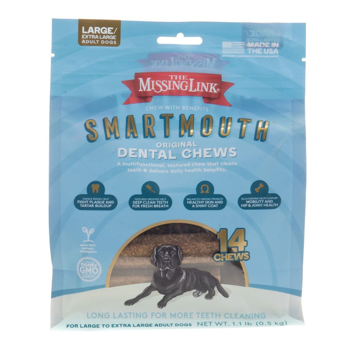 The Missing Link Smartmouth Dental Chews Lg/XL 14ct
