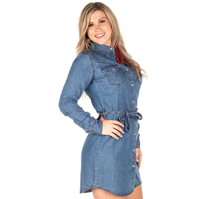 Women's Wrangler Denim Snap Dress