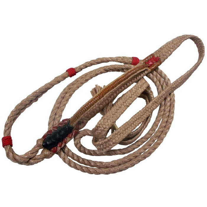 Barstow Pro Rodeo 9/7 Plait Full Leather Soft Tail Bull Rope