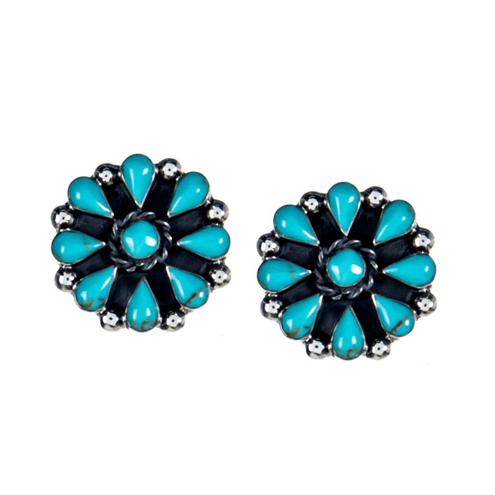 Paige Wallace Turquoise Cluster Earrings