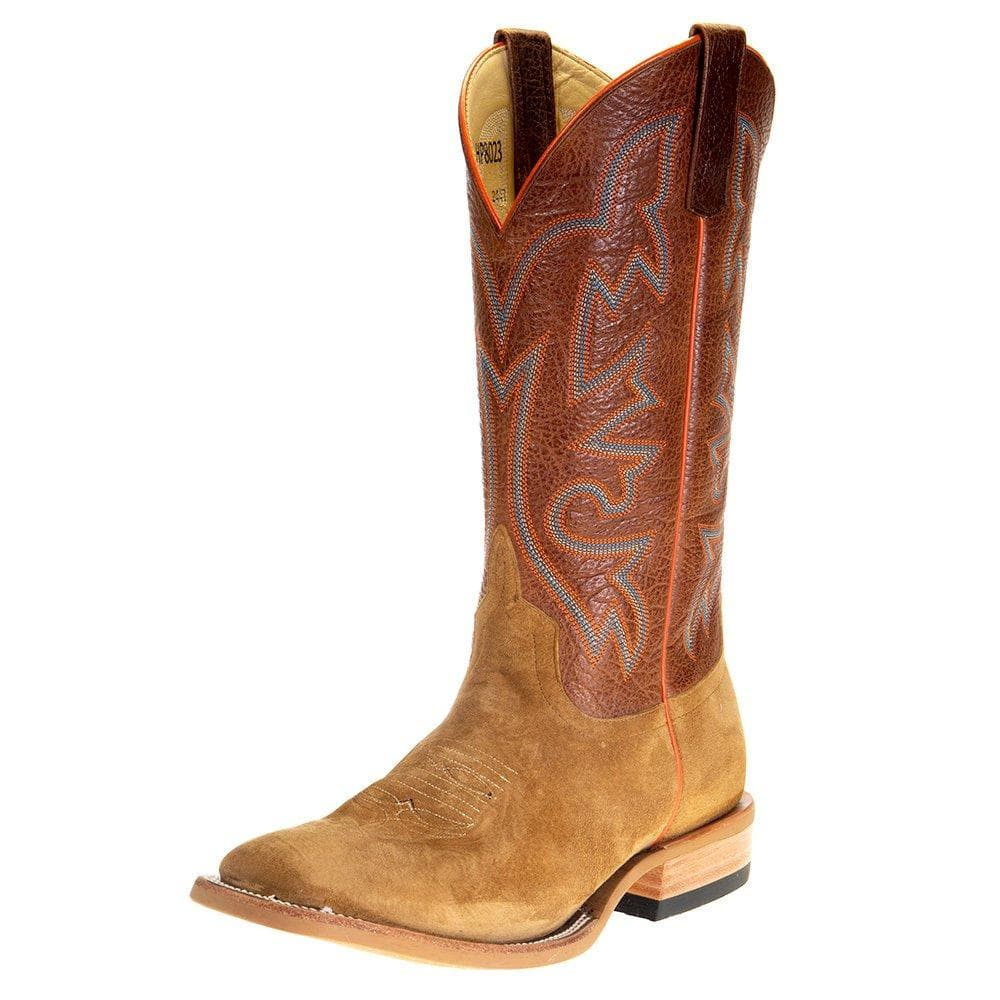 "Men's Horsepower Bacon Hash Roughout 13"" Rust Top Square Toe Boot"