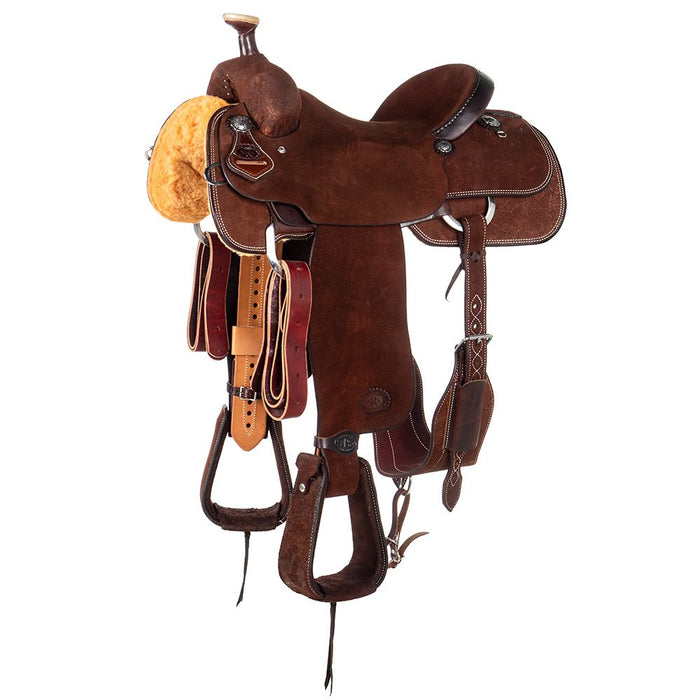 NRS Competitor Series Chocolate Roughout Team Roping Saddle
