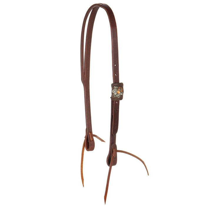 NRS Exclusive Foster Flower Slit Ear Headstall by Cowperson Tack