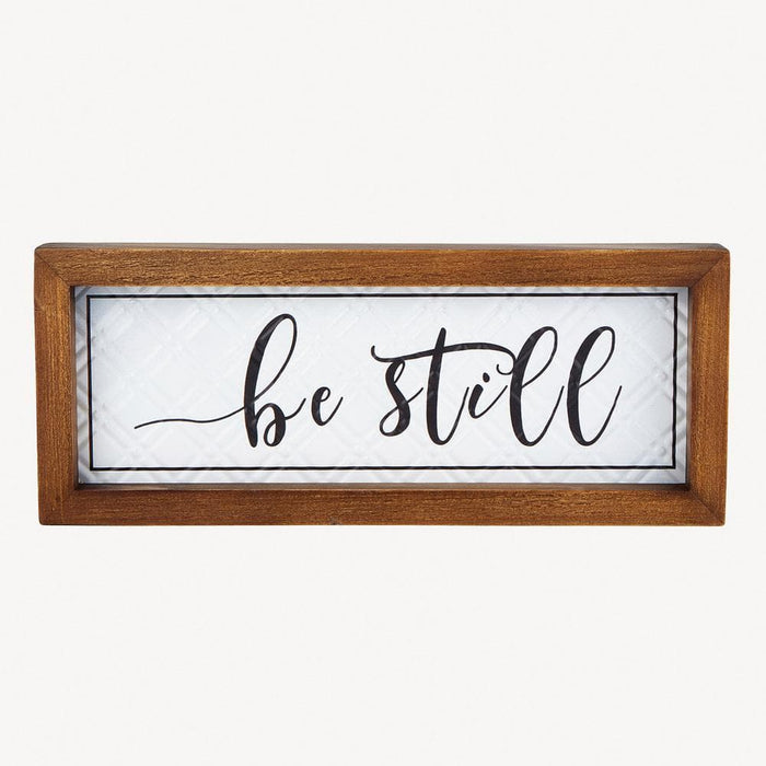 Be Still Wall Plaque