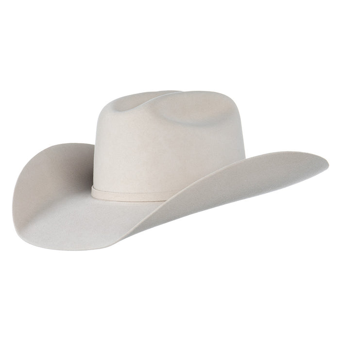 "Ariat Bone 10X 4 1/4"" Brim Cattlemans Crease Felt Cowboy Hat"