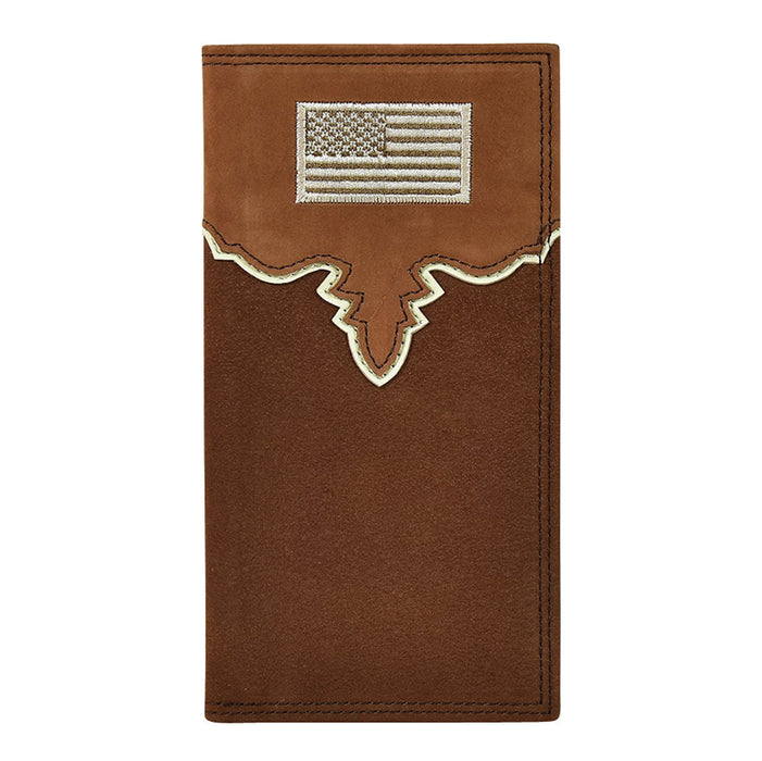 Justin Men`s USA Flag Rodeo Wallet
