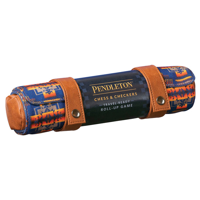 Pendleton Chess and Checkers Travel Roll Up Game