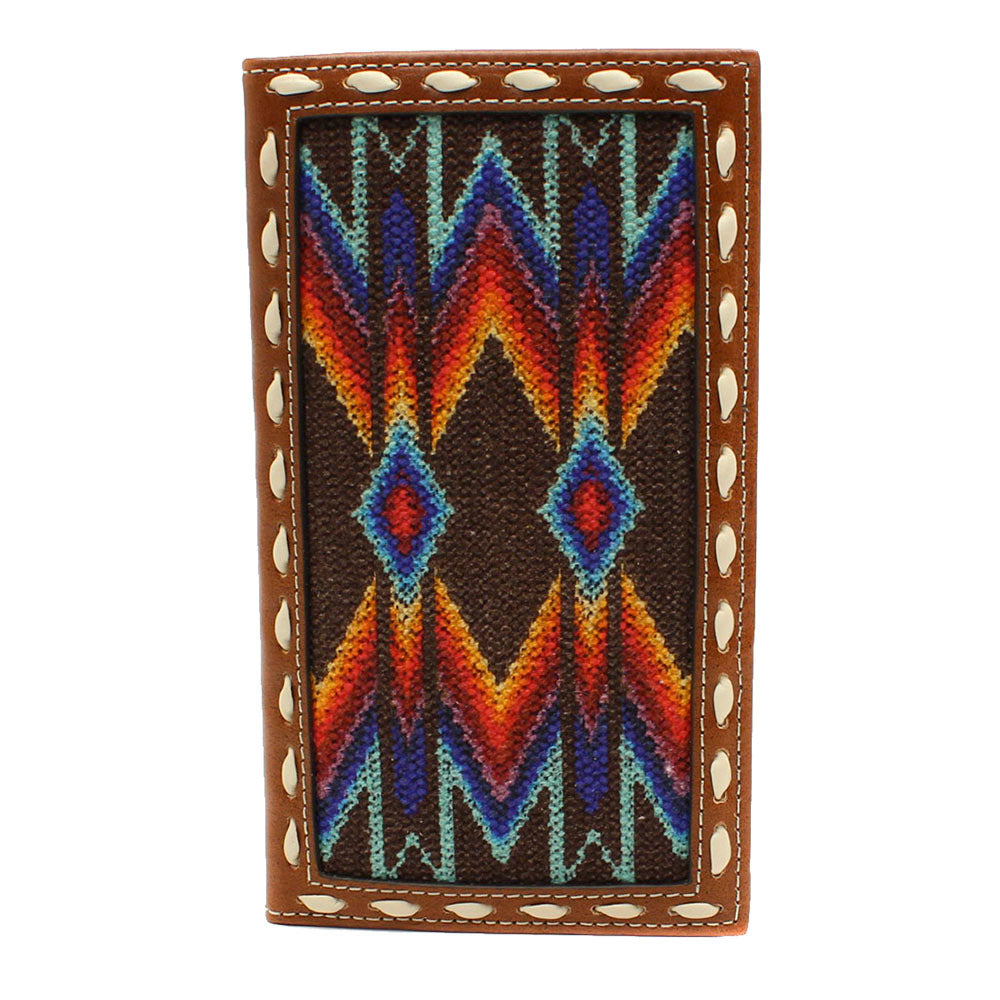 Nocona Southwest Pattern Inlay Rodeo Wallet