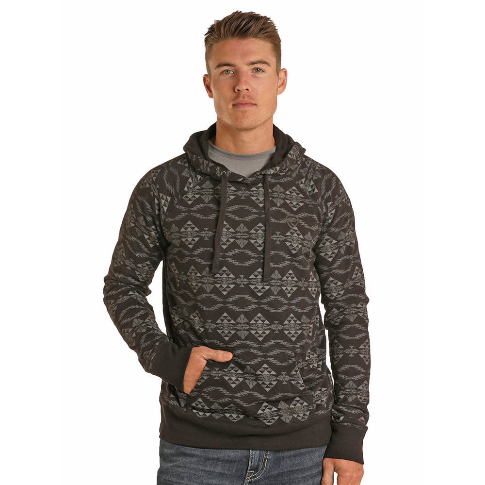 Rock n Roll Aztec Print Hooded Sweatshirt