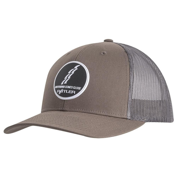 Rattler Ropes Chocolate and Grey Rubber Patch Logo Cap
