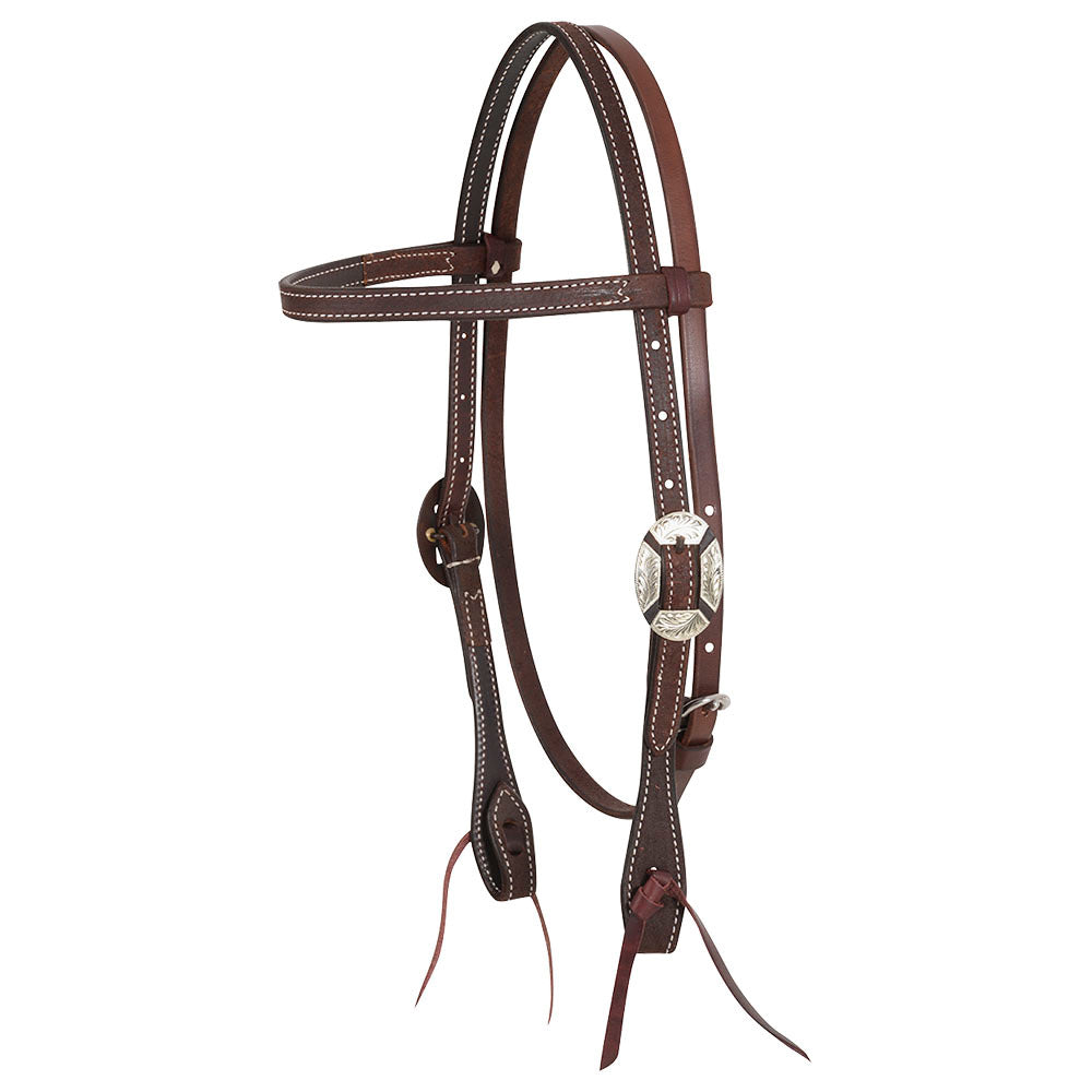 Martin Chocolate Roughout Browband Headstall with Clarendon Buckle