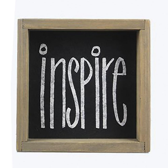 Inspire Wood Box Tabletop Sign