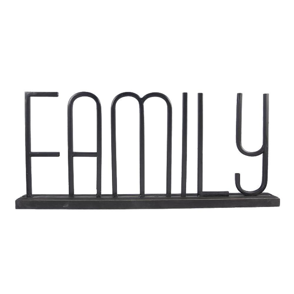 Family Wood Base Tabletop Sign