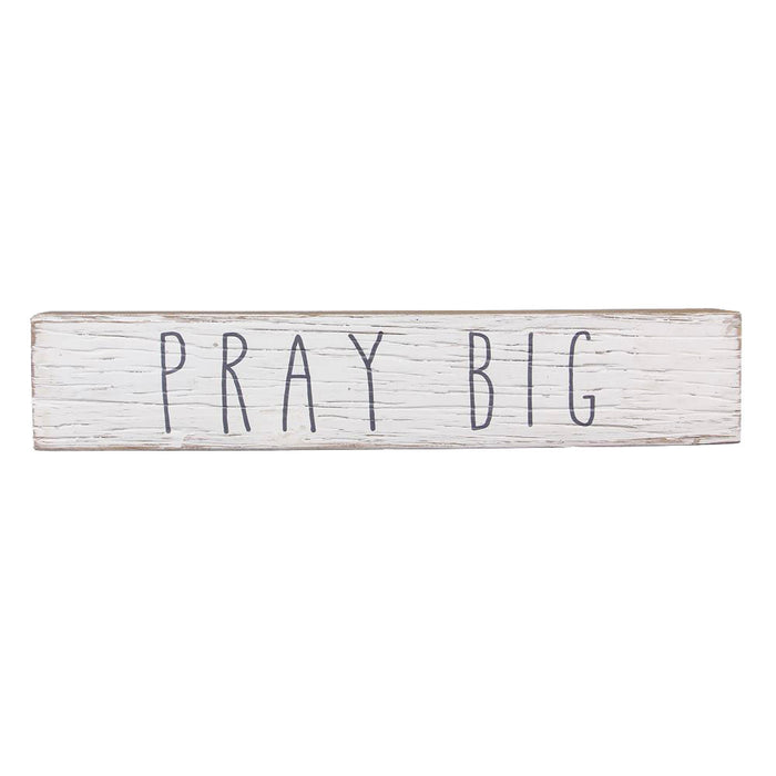 Pray Big Wood Framed Box Sign