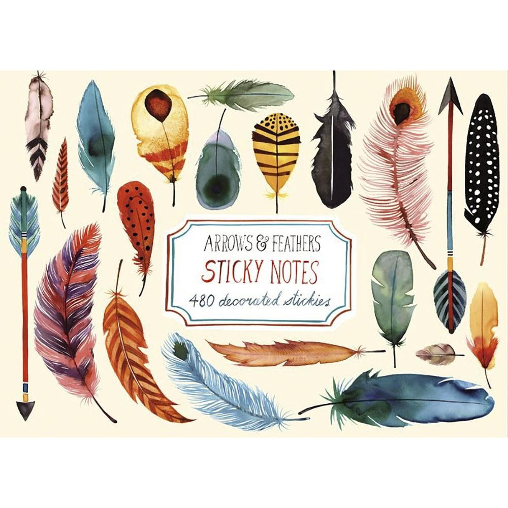 Arrow and Feather Sticky Notes
