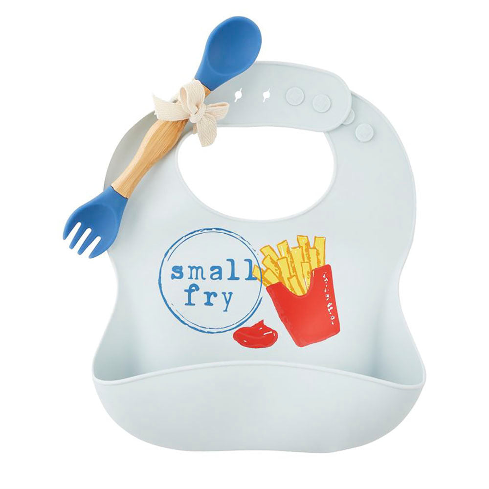 Mud Pie Small Fry Silicone Bib Set