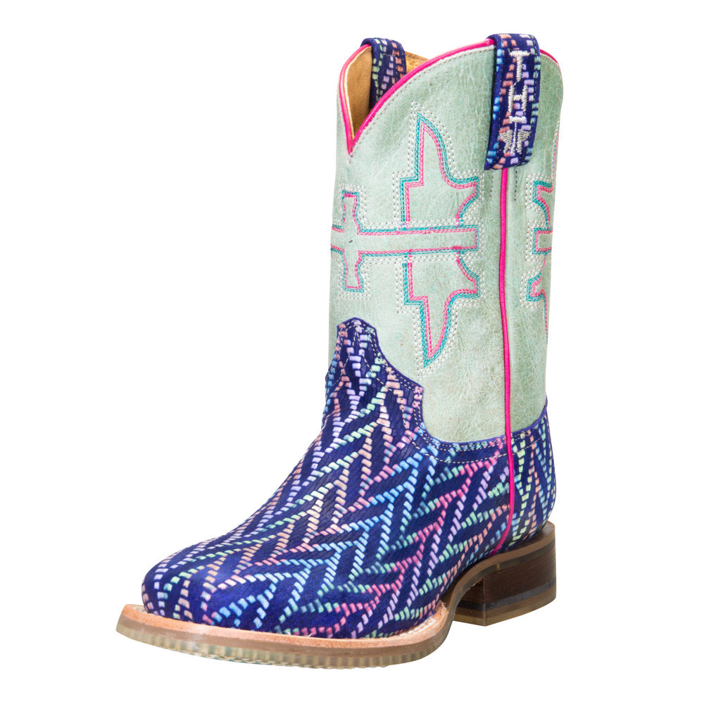 Youth Tin Haul Mermazing Sea Princess Sole Cowgirl Boots