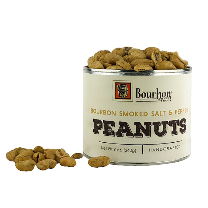 Bourbon Barrel Smoked Salt and Pepper Peanuts
