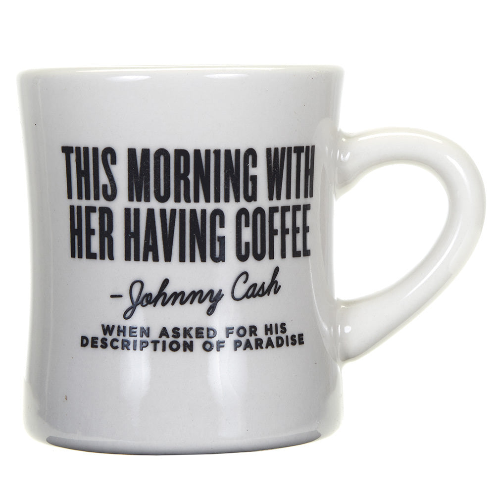 White Johnny Cash Quote Mug   Southern Fried Designs   NRS