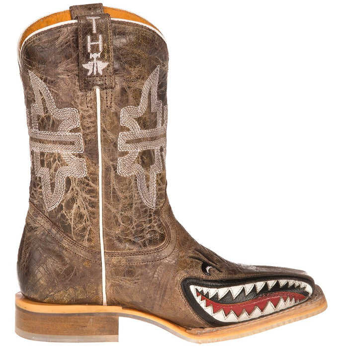 1abc09ea1cb Youth Tin Haul Sharky Man Eater Brown Top Boots