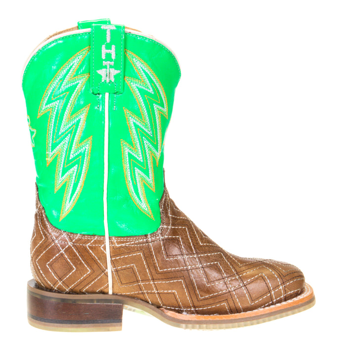 Kids Tin Haul Neon Matrix Lightning Rider Sole Cowboy Boot