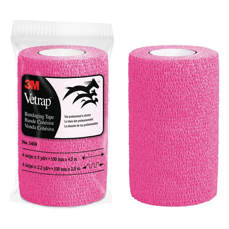 3M Vetrap Bandaging Tape Hot Pink