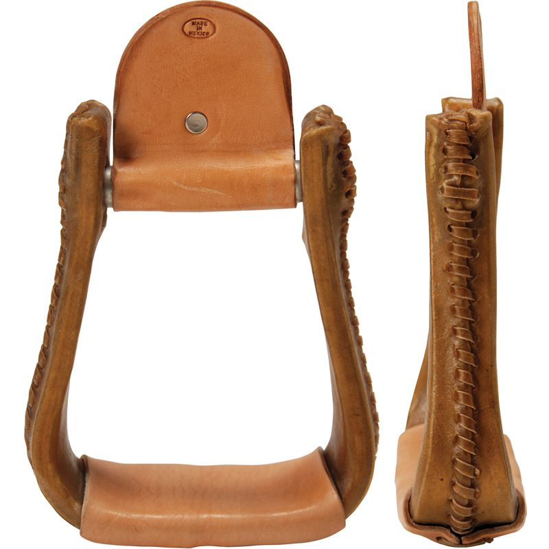 Rawhide Covered Barrel Stirrups