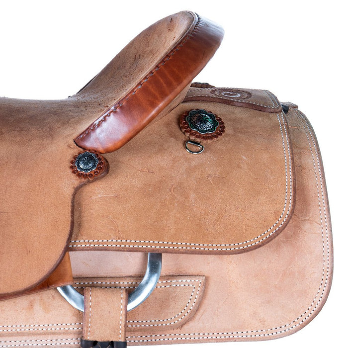 NRS Competitor's Series Natural Full Rough Out Team Roper Saddle