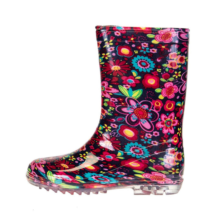 Kids Corkys Riverwalk Pink Rain Boot