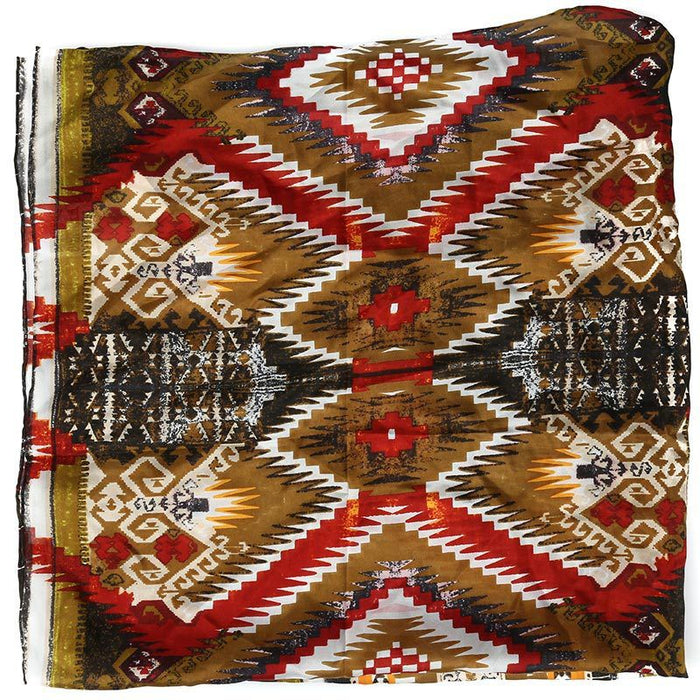 Men's Wyoming Traders Aztec Olive Green Wild Rag Scarf