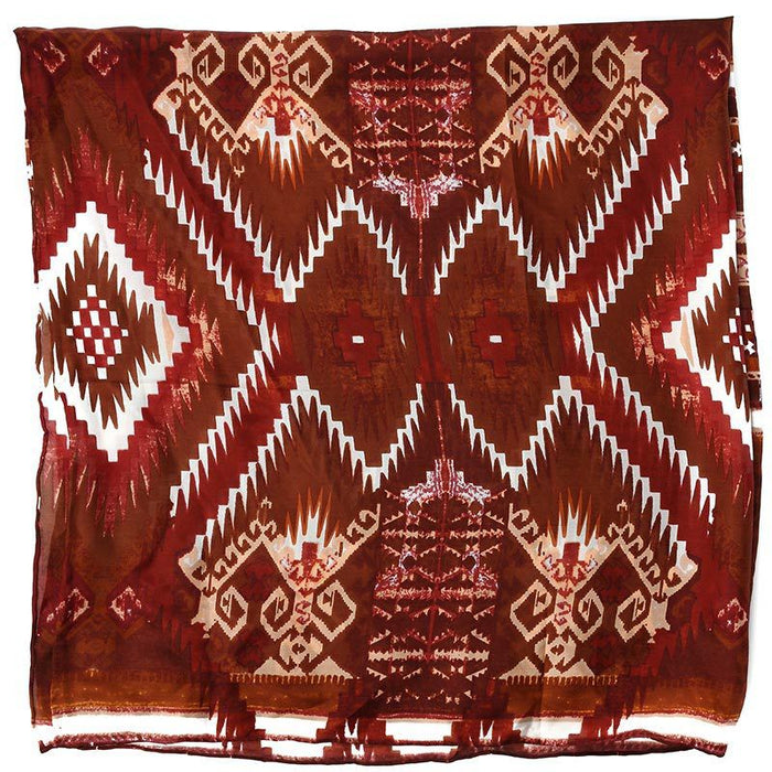 Men's Wyoming Traders Aztec Brown and White Wild Rag Scarf