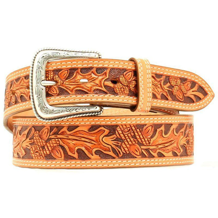 Men's Natural Autumn Tooled 1 3/4in Tapered Belt