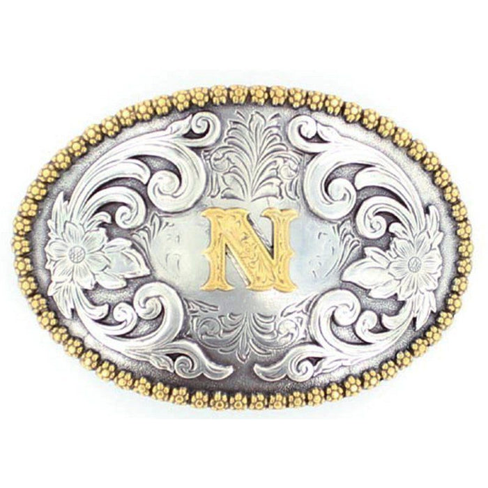 M&F N Initial Belt Buckle