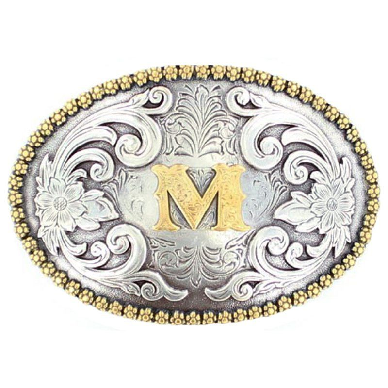 M&F M Initial Belt Buckle