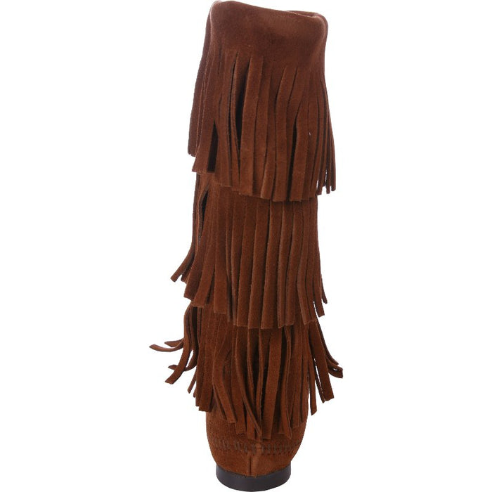 Women's Minnetonka Brown 3 Layer Fringe Boots