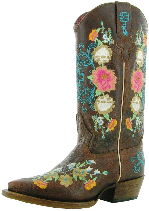 Kid's Anderson Bean Sweet Sixteen Rose Garden Cowgirl Boots