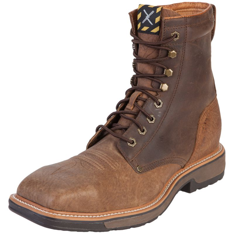 Men's Twisted X Distressed Shoulder Steel Toe Lite Work Lacer Boots