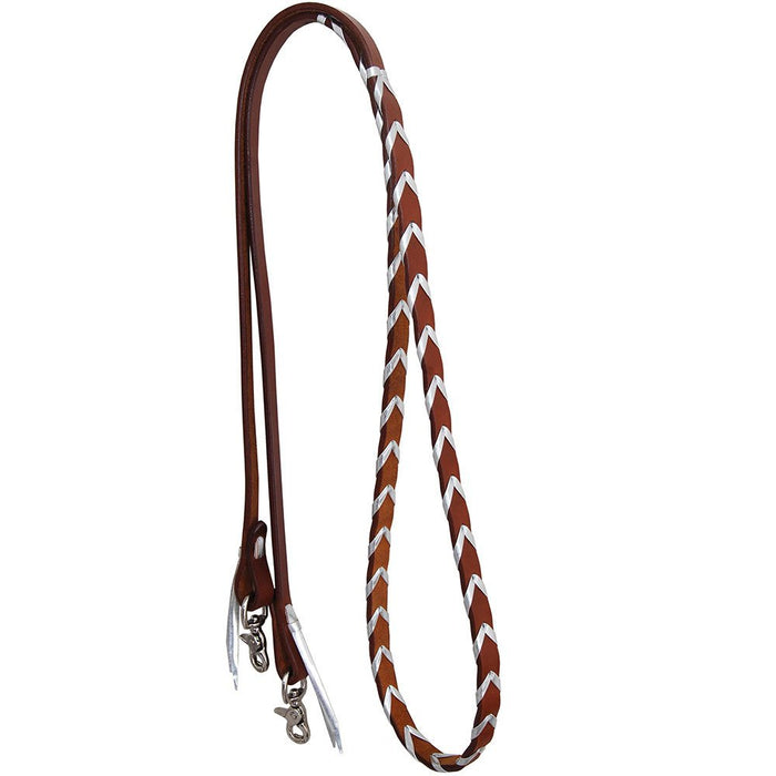 Rafter T Ranch Co. Leather Laced Barrel Reins