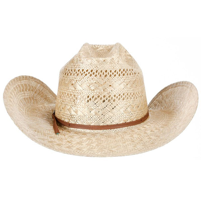 American Sisal Vented Open Crown 4-1/4in. Brim Straw Cowboy Hat