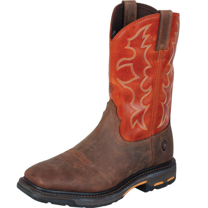 Ariat WorkHog Dark Earth Steel Toe Work Boots
