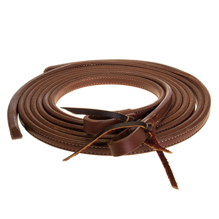 NRS 5/8in Oiled Split Reins w/ Weighted Ends